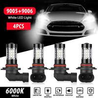 Combo 9005+9006 LED Headlight Hi-Low Beam Bulbs Kits Fog light 6000K White HID