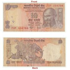 Genuine 10 Rs Note With Holy Serial Number 786 Great Collector Note. G5-112 US