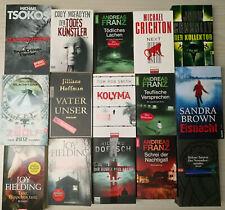 15 Stk Bücherpaket Konvolut Buchpaket SPANNUNG THRILLER KRIMI und PSYCHO