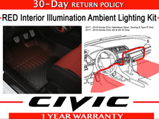 OEM Honda Civic 5dr & Si Red LED Interior Ambient Illumination Kit   2017 - 2020
