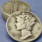 [Lot of 5] Unsearched Mercury Dimes 90% Silver