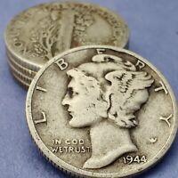 [Lot of 5] Mercury Dime 1916-1945 Silver