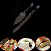 2Pcs Wedding Cake Knife Server Set Stainless Steel Anniversary Parties Tableware
