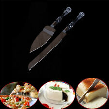 2X Wedding Cake Knife Server Set Stainless Steel Anniversary Parties Tableware3C