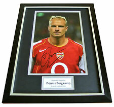 DENNIS BERGKAMP Signed FRAMED Photo Autograph Display ARSENAL Football & COA