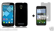 Alcatel One Touch Pop Mega LTE A995G (Straight Talk) Soft TPU Case Black