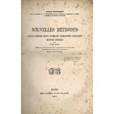 NOUVELLES MÉTHODES dédicacé par Jules RADU Écriture Grammaire Cosmographie 1872