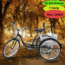 "Ridgeyard 26"" Triciclo de adultos con 7 velocidades Con Basket Senior Bicicleta"