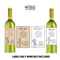 Funny, alternative, sarcastic, WINE LABEL. 80th birthday. Present/Gift. Him/Her