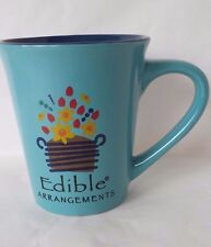 Edible Arrangements Large Turquoise Blue Coffee Tea Mug