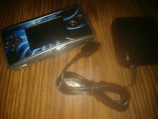 Nintendo Game Boy Micro Handheld System with blue/black faceplate and charger