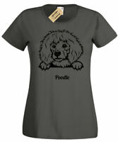 Womens Poodle T-Shirt dog lover gift present ladies Top