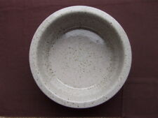 PURBECK POTTERY: PORTLAND PATTERN (BROWN/GREY FLECK) LARGE SERVING BOWL (22cm)