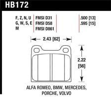 Hawk for 63-65 Porsche 356 Front / 69-83 911 / 64-72 912 Rear HT-10 Race Brake P
