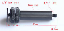 """Diameter 15mm 2""""length micro rod with 1/4"""" hot shoe fr clamp mount camera tripod"""