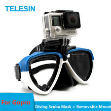TELESIN Blue Diving Scuba Mask With Removable Mount for GoPro SJCAM DJI Camera