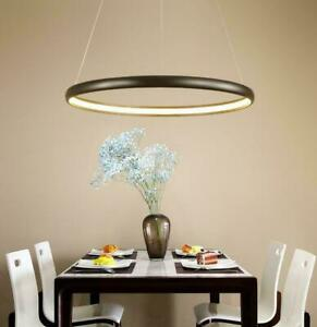 LED Brushed Circles Chandelier Lamp Dining Room Ceiling Staircase Hangling Light