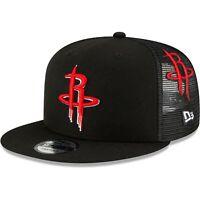 Houston Rockets New Era Scatter Trucker 9FIFTY Snapback Hat - Black