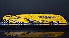 SLEDSTER FIRE DEPARTMENT YELLOW  CUSTOM CREW TRACTOR TRAILER
