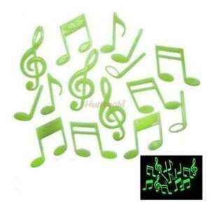 Glow in the Dark 3D Fluorescence Music Notes 15 pcs