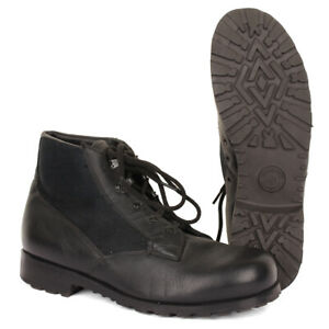 Original German Navy Deck Shoes - Vintage Surplus Army Black Boat Boots