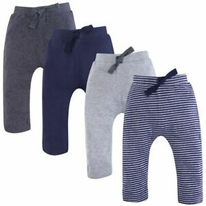 Touched by Nature Organic Harem Pants, 4-Pack, Navy and Gray