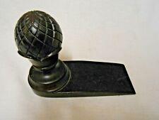 Victorian Vintage Wood Doorstop Pinecone - Acorn? design Dark Wood, Very Nice!!