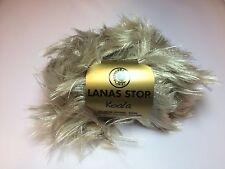 1 St 99,80€//kg Garn Pelz Wolle Lanas Stop KOALA Farbe 710 Luxuswolle 50Gr