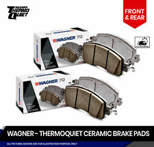 Front and Rear Thermoquiet Brake Pads Fits Suzuki SX4 2007-2013