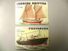 2 Nice 1955 Topps Rails & Sails, Herring Drifter, Freighter