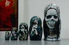 Russian Matryoshka, Wooden nesting dolls, Skull,  Mexican Day of the dead