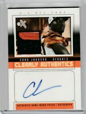 Chad Johnson 2004 Fleer E-X Clearly Authentics Jersey Patch Autograph AUTO #/85