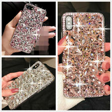 3D Bling Glitter Phone Case Luxury Rhinestone Diamond Cover For Various Phones