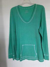 Liz Wear Women`s Long Sleeved V Neck Thermal Shirt Sz XXL