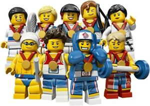 Lego 8909 Collectable Minifigures | Team GB - 2012 Olympics | Complete Set