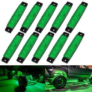 10 Pods Green LED Rock Underbody Wheel Light For Jeep Offroad Truck UTV ATV Boat