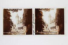 Bruges Hôtel Belgique Plaque de verre Stéréo Glass Stereoview Vintage