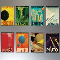 Mid Century Space Travel Vintage Retro Posters Fridge Magnets set of 8 No.2