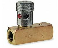 Hydraulic Flow Control Valve, 2000 psi, 8.0 gpm, Brass