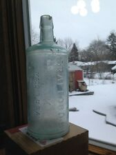 ink bottle Staff ores Ink Made In Usa Master Ink Patina Aqua Glass1890's
