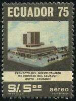 Ecuador A- 625 1976 Aerial New Palace Post Quito, MNH