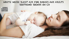 WHITE NOISE SLEEP AID 2 CD CALMING SLEEP AID SOOTHING SOUNDS FOR BABIES ADULTS
