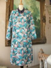 Ladies Vintage abstract print dress size 18 by dortona