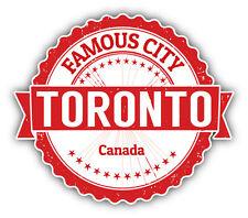 "Toronto City Canada Grunge Travel Stamp Car Bumper Sticker Decal 5"" x 4"""