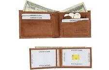 Man's Bifold 2-in-1 Leather Wallet, 9 Card Slot 3 ID 3 Billfolds. W/ Mini wallet