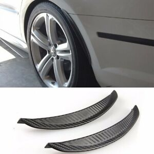 "1 Pair 13""  Carbon Texture Diffuser Fender Flares Lip For VW Wheel Wall Panel"