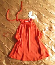 EDC ESPRIT NECKHOLDER PARTY TUNIKA TOP SHIRT ORANGE ROT M, 38 NEU