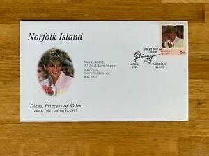 NORFOLK ISLAND 1998 FDC PRINCESS DIANA # RARE #