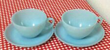 Rare! Vintage Fire King Turquoise Mint Cup and Saucer 2 Set From Japan