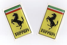 New Genuine Ferrari Rectangular Resin Decal Set - Small Version